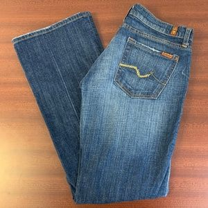 7 For All Mankind Bootcut Gold Sequence Pockets